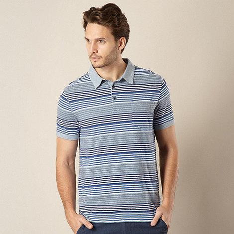 RJR.John Rocha - Designer blue multi striped polo shirt