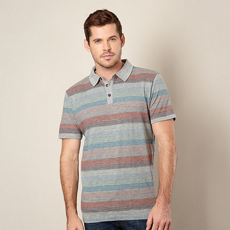 RJR.John Rocha - Designer grey striped polo top