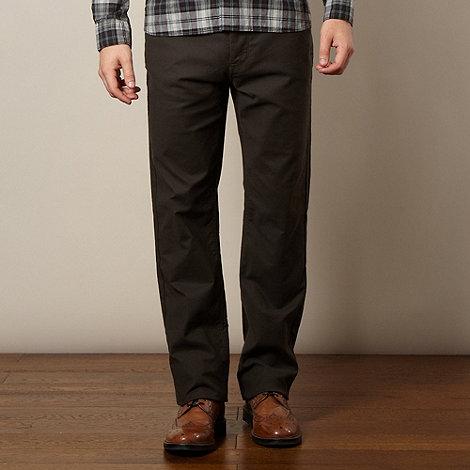 RJR.John Rocha - Big and tall designer dark grey stitch trousers