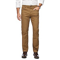 RJR.John Rocha - Big and tall tan herringbone five pocket trousers