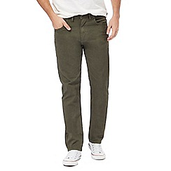 RJR.John Rocha - Big and tall green herringbone five pocket trousers