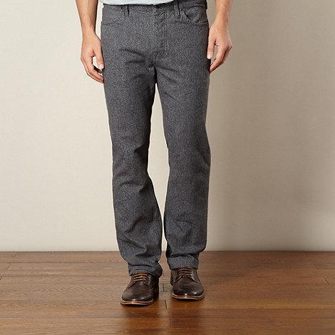 RJR.John Rocha - Designer grey textured straight leg trousers