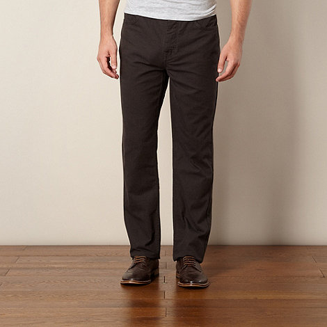 RJR.John Rocha - Designer dark brown tonal checked trousers