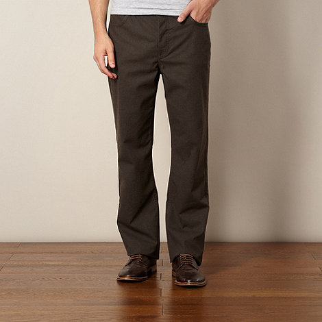 RJR.John Rocha - Big and tall designer brown trousers