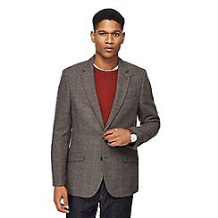 RJR.John Rocha - Big and tall grey pow check jacket