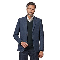 RJR.John Rocha - Big and tall blue textured jacket with wool