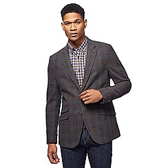 RJR.John Rocha - Big and tall grey statement check jacket