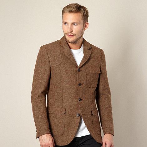 RJR.John Rocha - Designer dark tan herringbone jacket