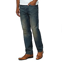 RJR.John Rocha - Big and tall dark blue vintage wash jeans
