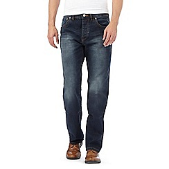 RJR.John Rocha - Big and tall designer dark blue regular jeans