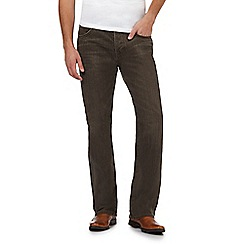 RJR.John Rocha - Big and tall designer brown wash straight leg jeans