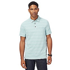 RJR.John Rocha - Light green textured striped polo shirt