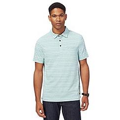 RJR.John Rocha - Big and tall light green textured striped polo shirt