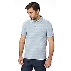 RJR.John Rocha - Big and tall light blue textured striped polo shirt