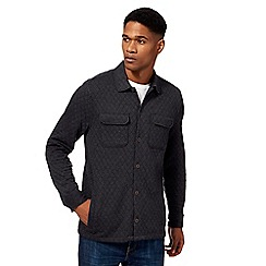 RJR.John Rocha - Big and tall dark grey quilted shirt