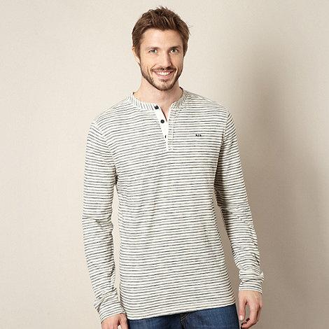 RJR.John Rocha - Designer off white striped button neck t-shirt