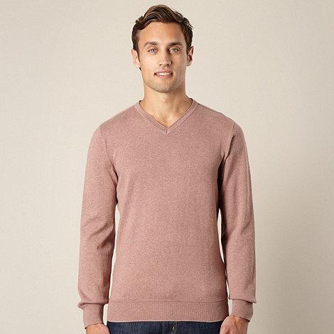 RJR.John Rocha - Big and tall designer pink v neck jumper