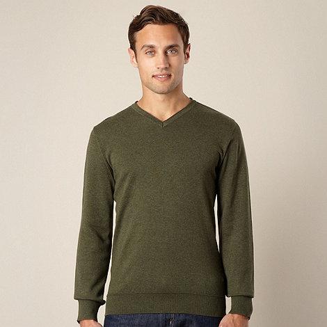 RJR.John Rocha - Designer dark green V neck jumper