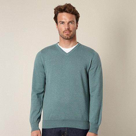 RJR.John Rocha - Designer turquoise V neck jumper