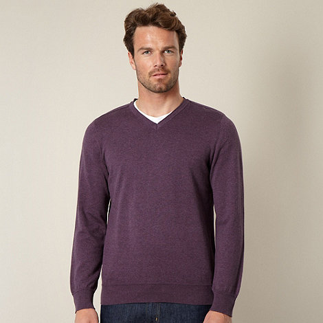 RJR.John Rocha - Designer purple V neck jumper