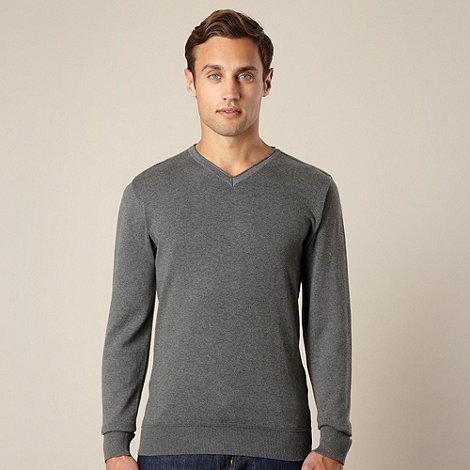 RJR.John Rocha - Designer grey V neck jumper