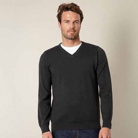 RJR.John Rocha - Designer dark grey V neck jumper