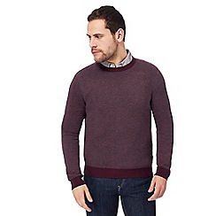 RJR.John Rocha - Big and tall purple birdseye crew neck jumper