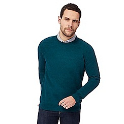 RJR.John Rocha - Big and tall dark turquoise moss stitch crew neck jumper