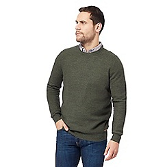 RJR.John Rocha - Big and tall khaki moss stitch crew neck jumper
