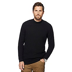RJR.John Rocha - Black textured turtleneck jumper