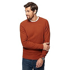 RJR.John Rocha - Big and tall orange textured crew neck jumper