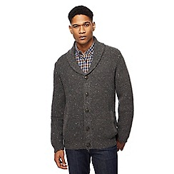 RJR.John Rocha - Dark grey lambswool rich shawl cardigan