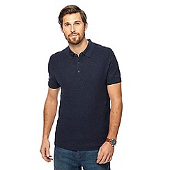 RJR.John Rocha - Navy knitted polo shirt