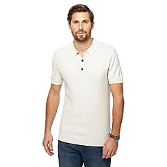 RJR.John Rocha - Big and tall natural knitted polo shirt