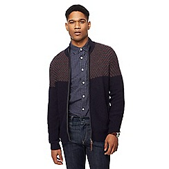 RJR.John Rocha - Navy lambswool rich patterned sweater
