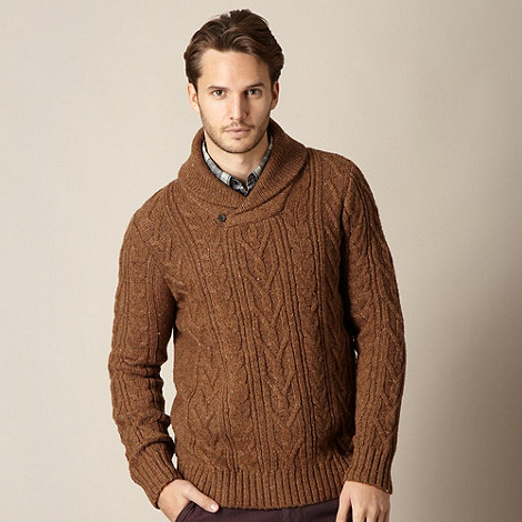 RJR.John Rocha - Designer tan cable knitted jumper