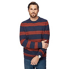 RJR.John Rocha - Big and tall navy ribbed jumper with wool