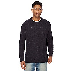 RJR.John Rocha - Navy cable knit lambswool rich jumper