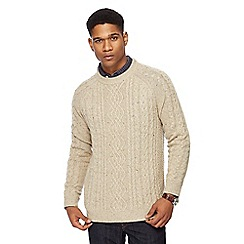 RJR.John Rocha - Natural cable knit crew neck jumper