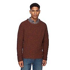 RJR.John Rocha - Dark orange twist knit wool rich jumper