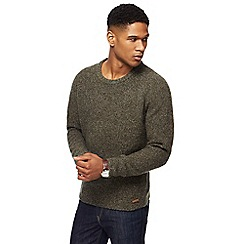 RJR.John Rocha - Green twist knit wool rich jumper