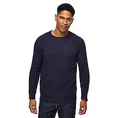 RJR.John Rocha - Blue checkerboard texture knitted jumper