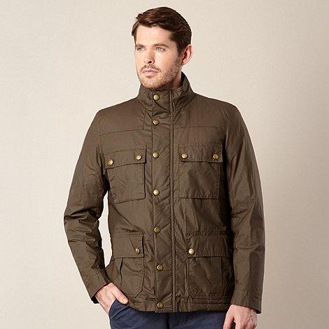 RJR.John Rocha - Big and tall designer olive green funnel jacket