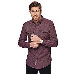 RJR.John Rocha - Big and tall purple grindle texture overshirt