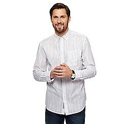RJR.John Rocha - Big and tall white fine stripe print tailored fit shirt