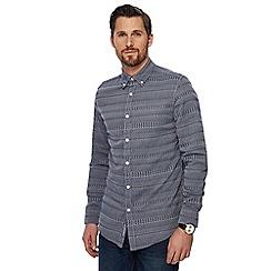 RJR.John Rocha - Navy textured tailored fit shirt