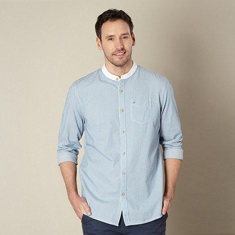 RJR.John Rocha - Designer blue +Robert+ twill striped collarless shirt