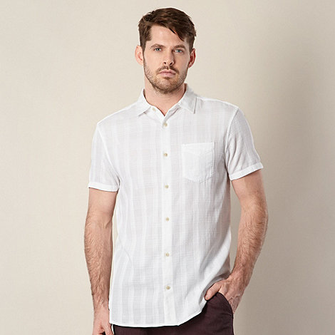 RJR.John Rocha - Designer white +Edgar+ textured checked shirt