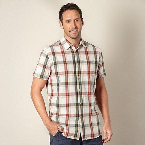 RJR.John Rocha - Designer red +Bertie+ large checked shirt