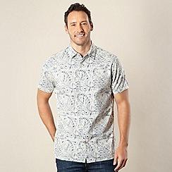 RJR.John Rocha - Designer white 'Alfie' reverse floral shirt